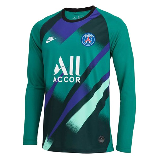 Maillot Foot Pas Cher Paris Saint Germain ML Gardien 2019 2020 Vert