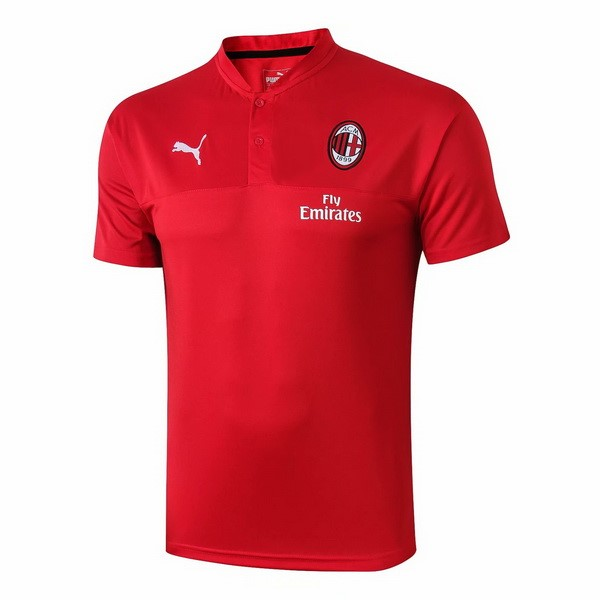 Polo Foot Pas Cher AC Milan 2019 2020 Rouge
