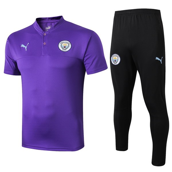 Polo Foot Pas Cher Ensemble Complet Manchester City 2019 2020 Purpura