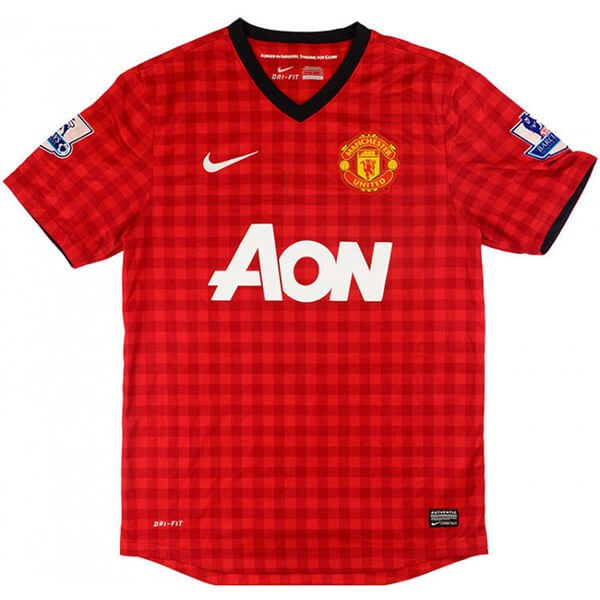 Maillot Foot Pas Cher Manchester United Domicile Retro 2012 2013 Rouge