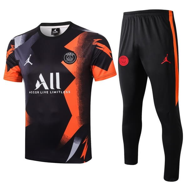 Entrainement Paris Saint Germain Ensemble Complet 2019 2020 Noir Orange