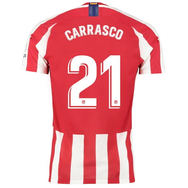 Thailande Maillot Foot Pas Cher Atlético de Madrid NO.21 Carrasco 2019 2020 Rouge