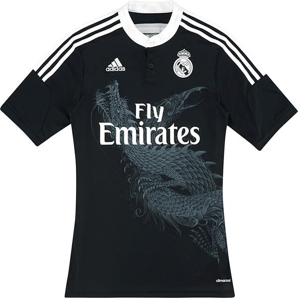 Thailande Maillot Foot Pas Cher Real Madrid Third Retro 2014 2015 Noir