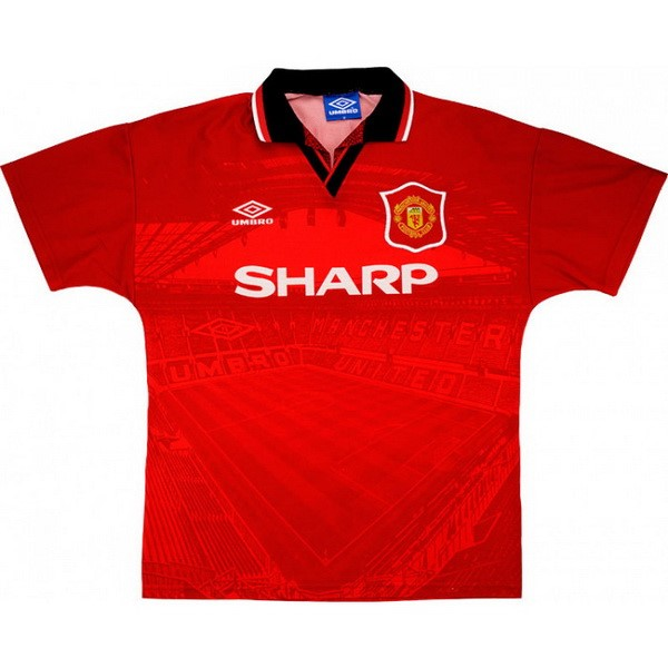 Maillot Foot Pas Cher Manchester United Domicile Retro 1994 1996 Rouge