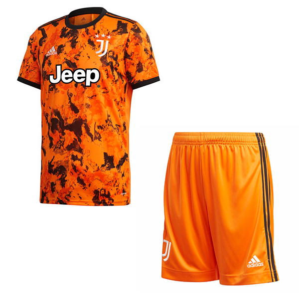 Maillot Foot Pas Cher Juventus Third Enfant 2020 2021 Orange