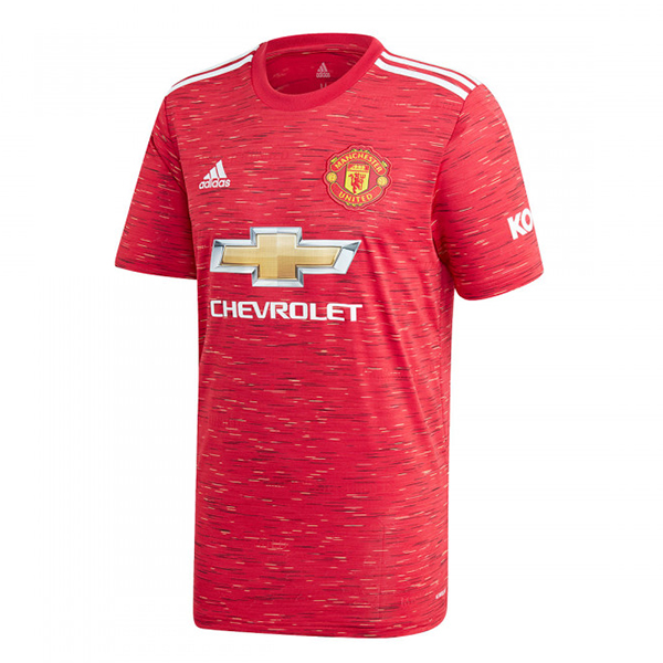 Maillot Foot Pas Cher Manchester United Domicile 2020 2021 Rouge
