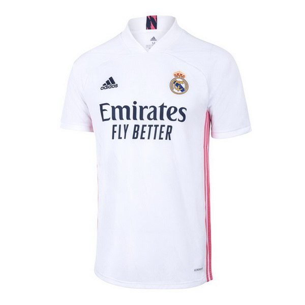 Thailande Maillot Foot Pas Cher Real Madrid Domicile 2020 2021 Blanc