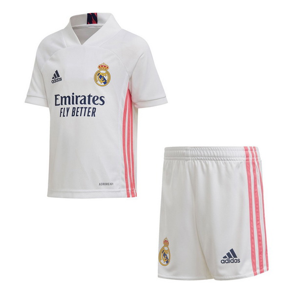 Maillot Foot Pas Cher Real Madrid Domicile Enfant 2020 2021 Blanc