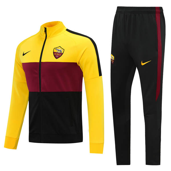 Survetement AS Roma 2020 2021 Jaune Rouge