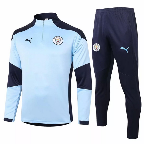 Survetement Manchester City 2020 2021 Bleu Noir