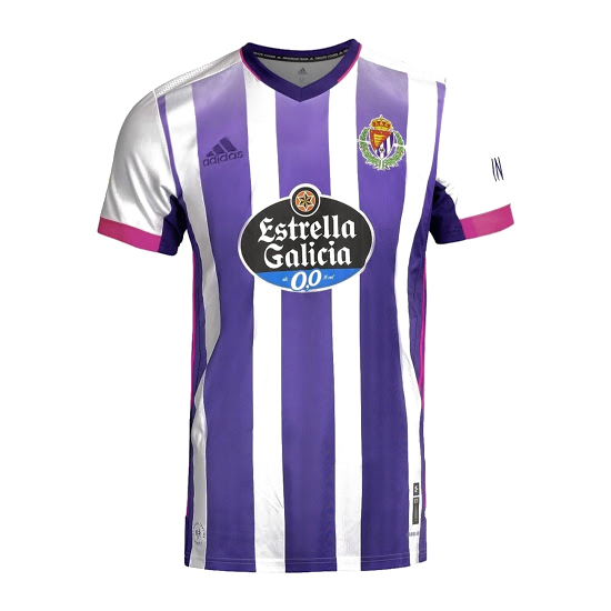 Thailande Maillot Foot Pas Cher Real Valladolid Domicile 2020 2021 Blanc Purpura