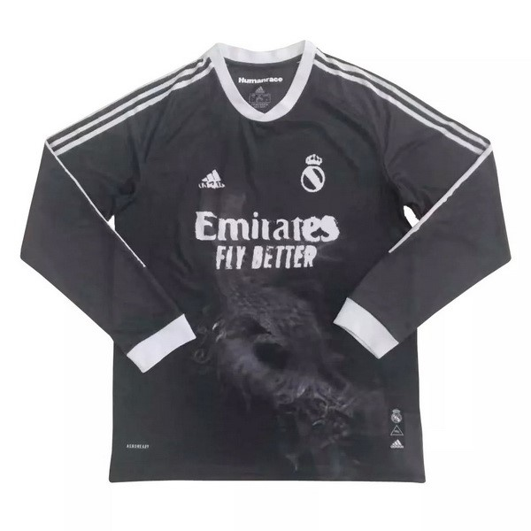 Thailande Maillot Foot Pas Cher Real Madrid Human Race ML 2020 2021 Noir