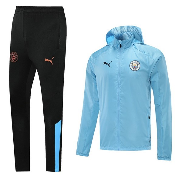 Coupe Vent Manchester City Ensemble Complet 2021 2022 Bleu Clair