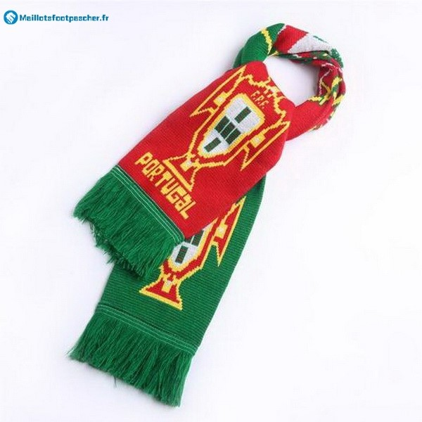 Écharpe Foot Portugal Tricoter Vert Rouge