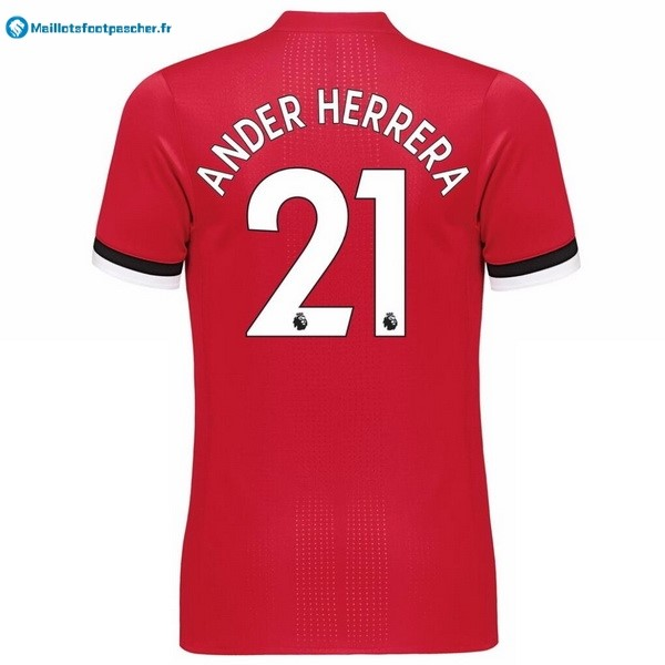 Maillot Foot Pas Cher Manchester United Domicile Ander Herrera 2017 2018