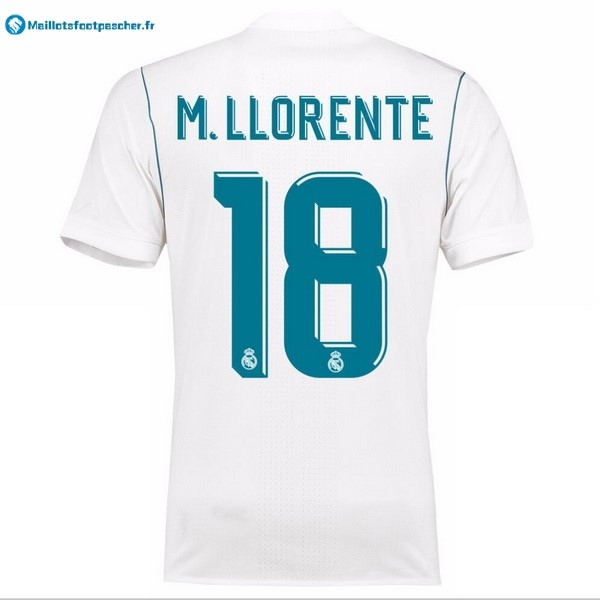 Maillot Foot Pas Cher Real Madrid Domicile M.Llorente 2017 2018