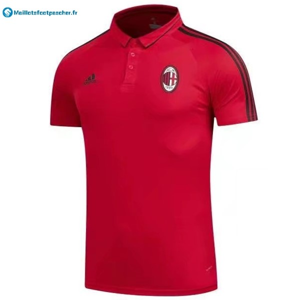 Polo Foot Pas Cher Milan 2017 2018 Rouge