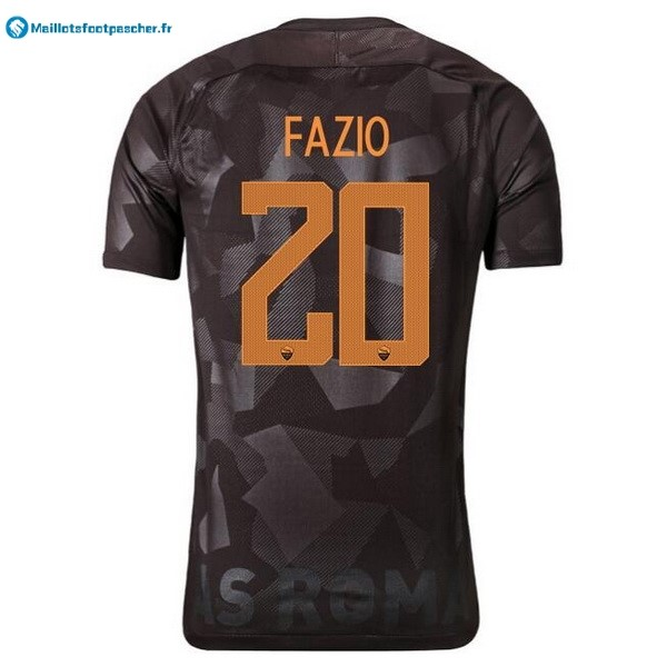 Maillot Foot Pas Cher AS Roma Third Fazio 2017 2018