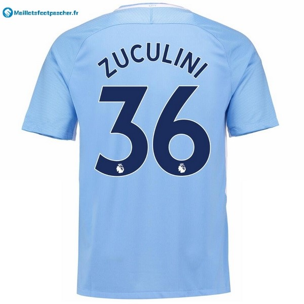Maillot Foot Pas Cher Manchester City Domicile Zuculini 2017 2018