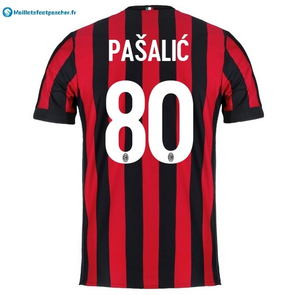 Maillot Foot Pas Cher Milan Domicile Pasalic 2017 2018