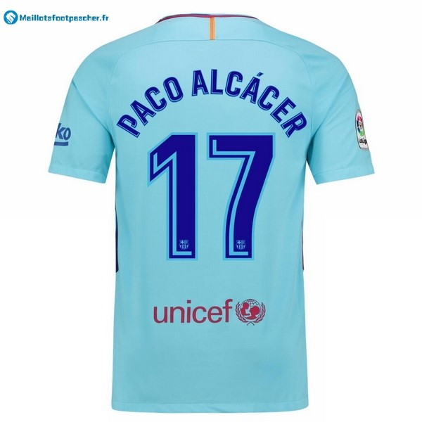 Maillot Foot Pas Cher Barcelona Exterieur Paco Alcacer 2017 2018