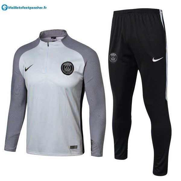 Survetement Foot Pas Cher Paris Saint Germain 2017 2018 Gris Noir