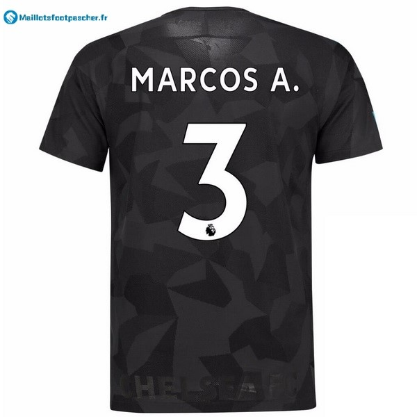 Maillot Foot Pas Cher Chelsea Third Marcos A. 2017 2018