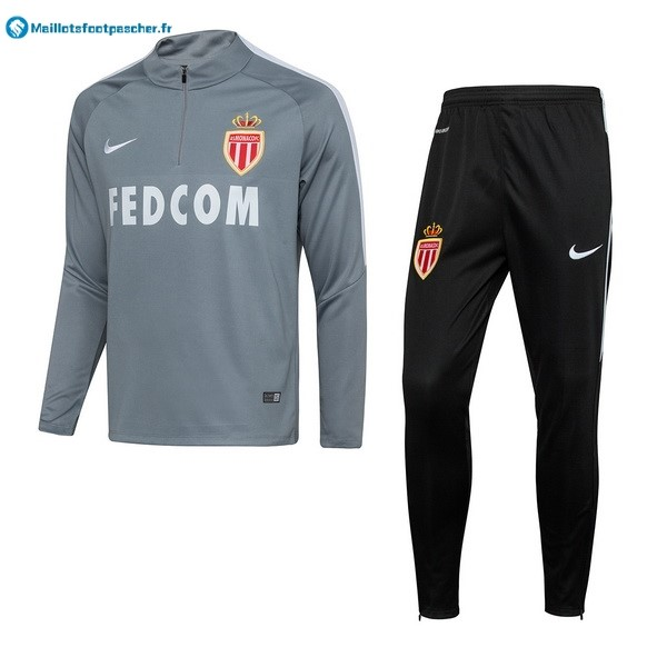 Survetement Foot Pas Cher AS Monaco 2017 2018 Gris