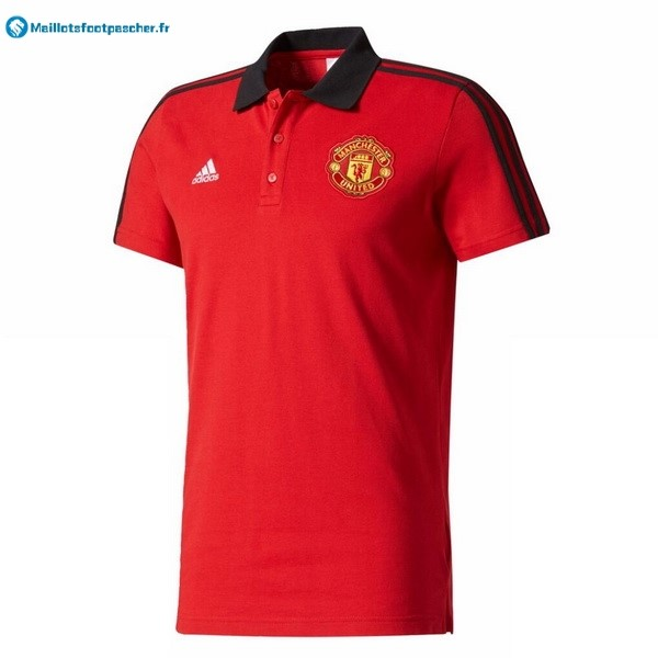Polo Foot Pas Cher Manchester United 2017 2018 Rouge Noir