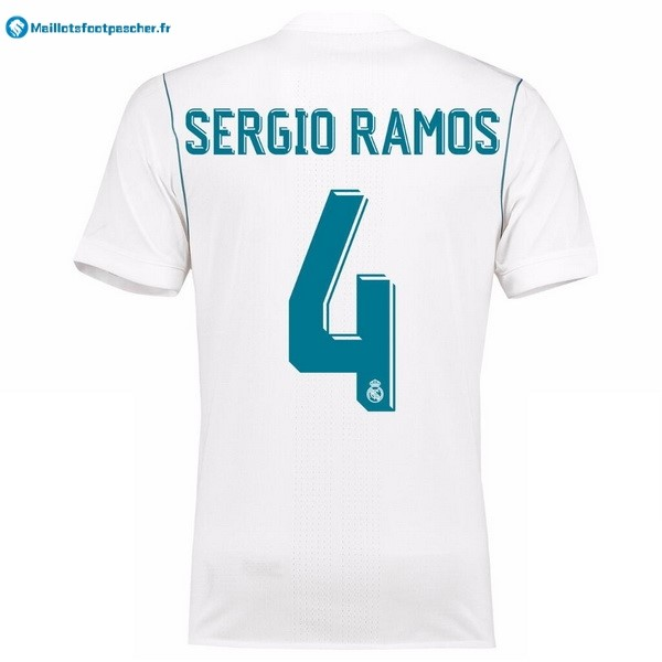 Maillot Foot Pas Cher Real Madrid Domicile Sergio Ramos 2017 2018