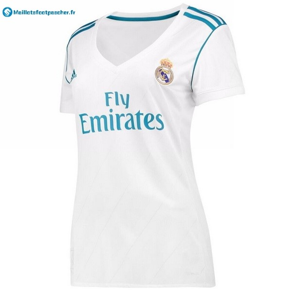 Maillot Foot Pas Cher Real Madrid Femme Domicile 2017 2018