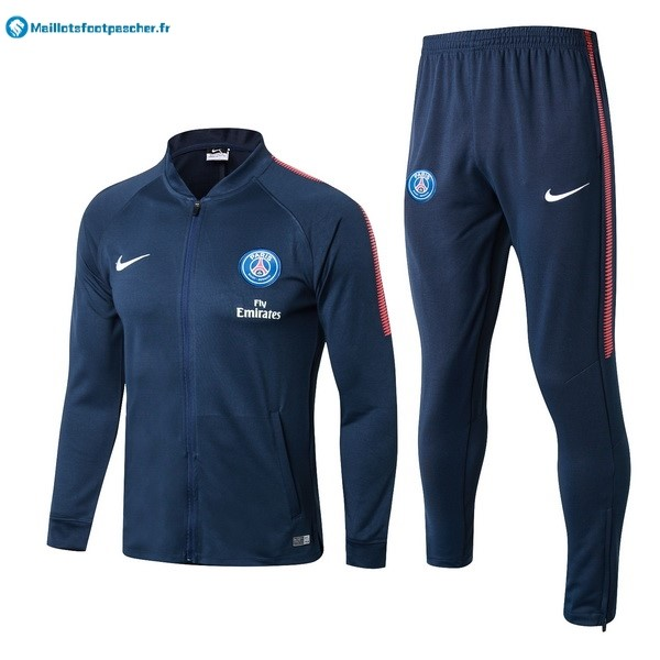 Survetement Foot Pas Cher Paris Saint Germain 2017 2018 Bleu Marine