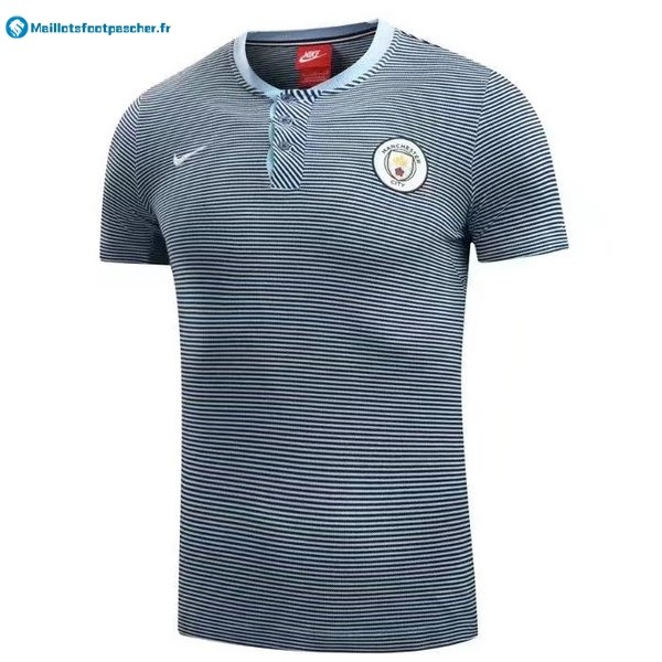 Polo Foot Pas Cher Manchester City 2017 2018 Gris Clair
