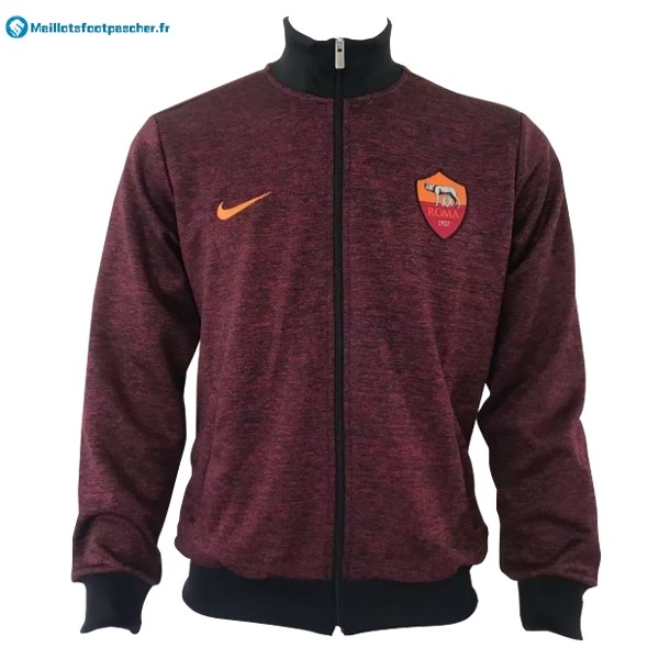 Veste Foot Pas Cher AS Roma 2017 2018 Rouge Marine