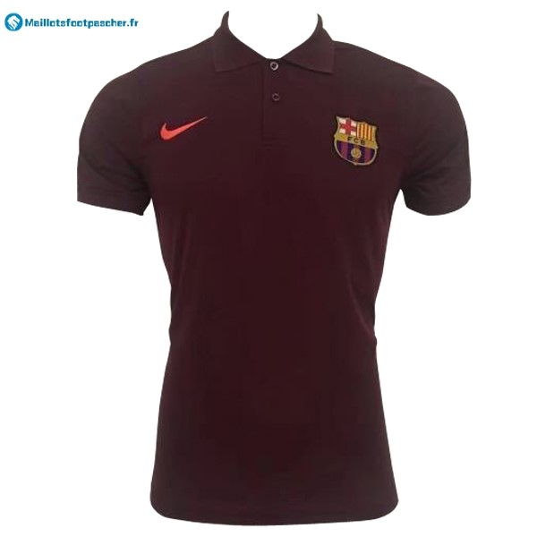 Polo Foot Pas Cher Barcelona 2017 2018 Rouge