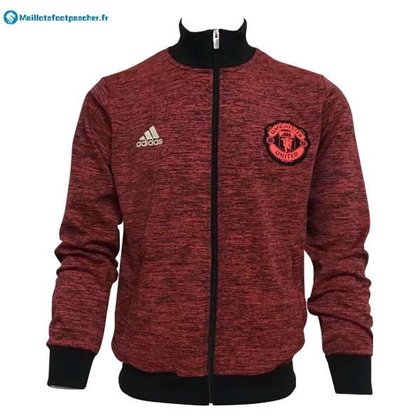 Veste Foot Pas Cher Manchester United 2017 2018 Rouge Marine