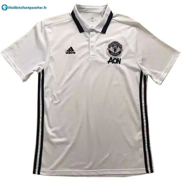 Polo Foot Pas Cher Manchester United 2017 2018 Blanc