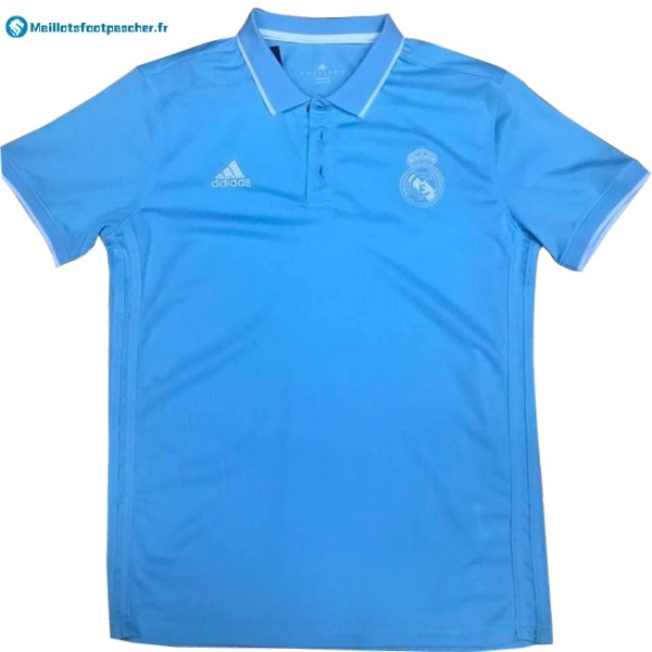 Polo Foot Pas Cher Real Madrid 2017 2018 Bleu