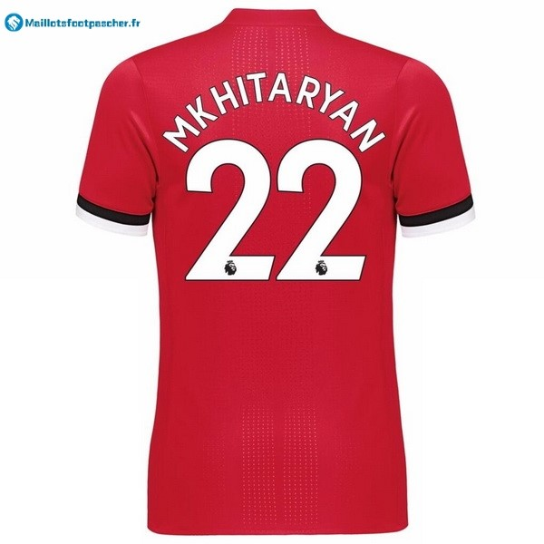 Maillot Foot Pas Cher Manchester United Domicile Mkhitaryan 2017 2018