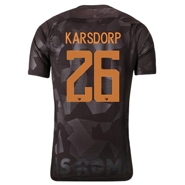 Maillot Foot Pas Cher AS Roma Domicile karsdorp 2017 2018
