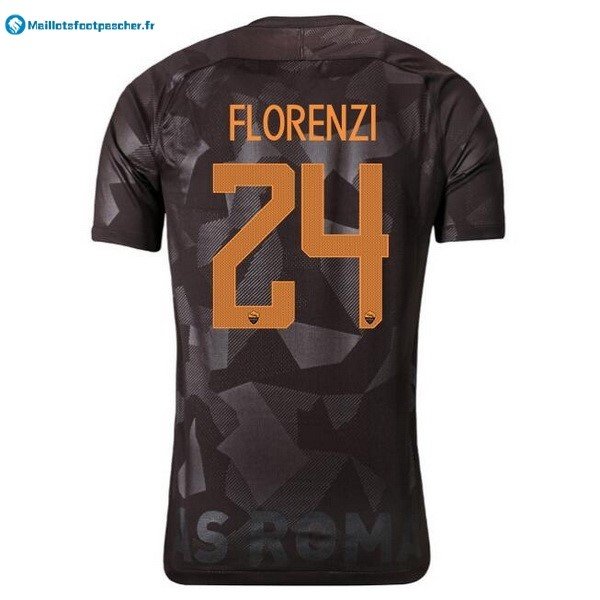 Maillot Foot Pas Cher AS Roma Third Florenzi 2017 2018