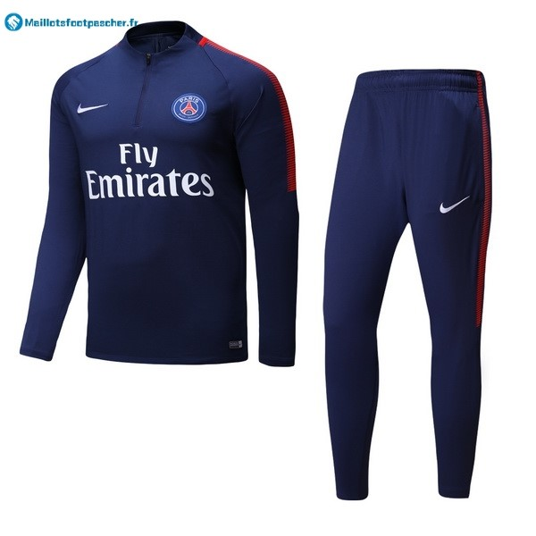 Survetement Foot Pas Cher De Laine Paris Saint Germain 2017 2018 Bleu