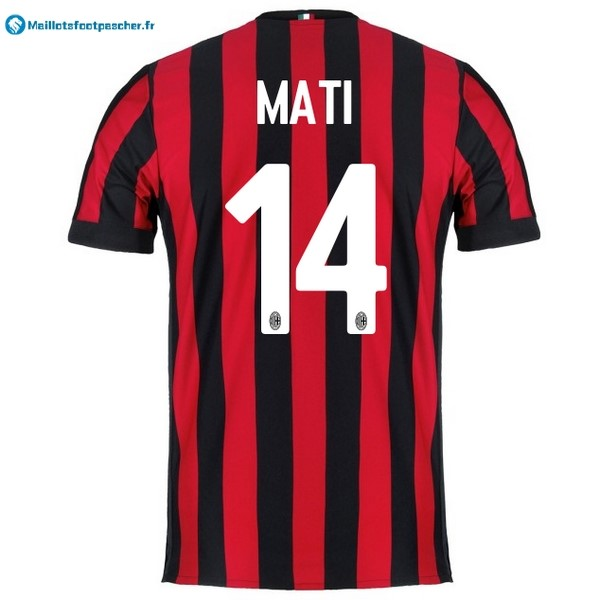 Maillot Foot Pas Cher Milan Domicile Mati 2017 2018