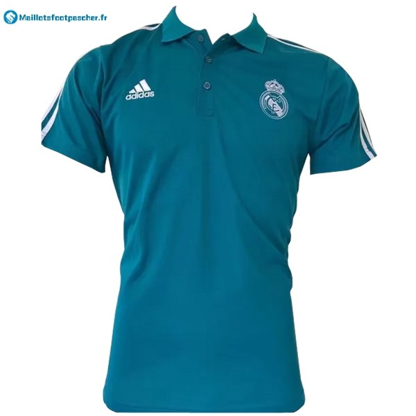 Polo Foot Pas Cher Real Madrid 2017 2018 Blanc Bleu