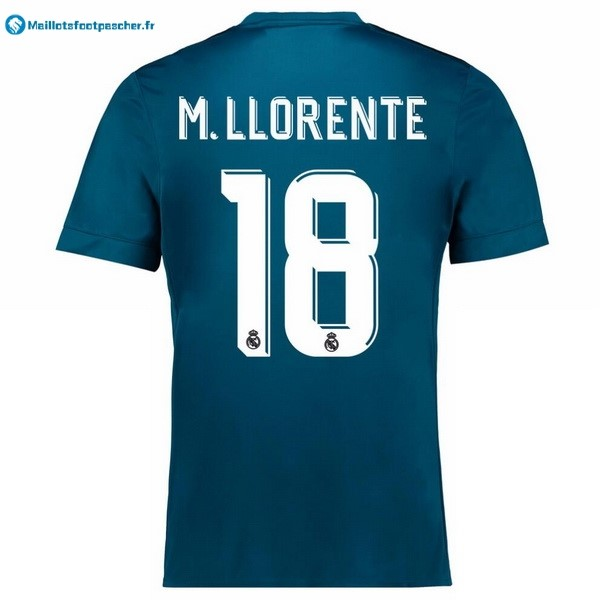 Maillot Foot Pas Cher Real Madrid Third M.Llorente 2017 2018