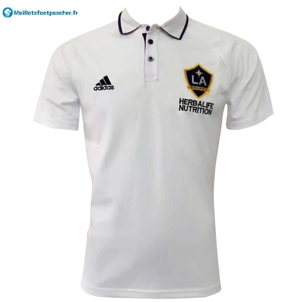 Polo Foot Pas Cher Los Angeles Galaxy 2017 2018 Blanc