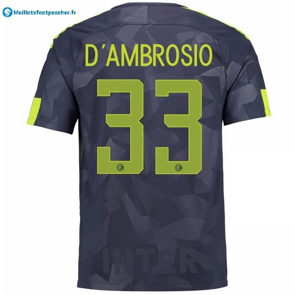 Maillot Foot Pas Cher Inter Third D'Ambrosio 2017 2018