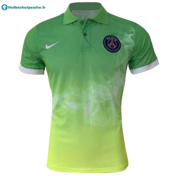 Polo Foot Pas Cher Paris Saint Germain 2017 2018 Vert