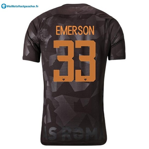 Maillot Foot Pas Cher AS Roma Third Emerson 2017 2018