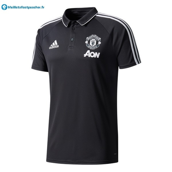 Polo Foot Pas Cher Manchester United 2017 2018 Noir